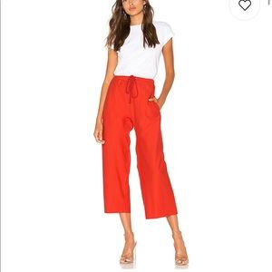 Red terry cloth pants